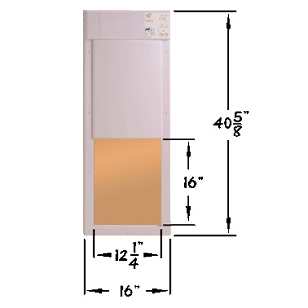 Shop High Tech Pet Large White Composite Or Wall Pet Door Actual