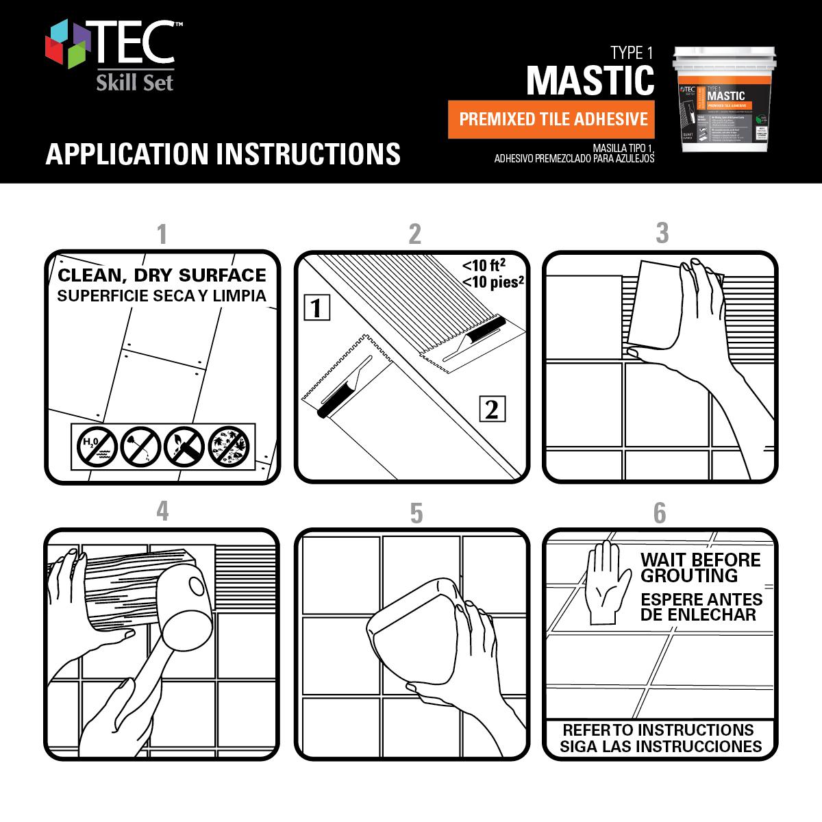 Shop TEC Tile Mastic (1-Gallon) at Lowes.com