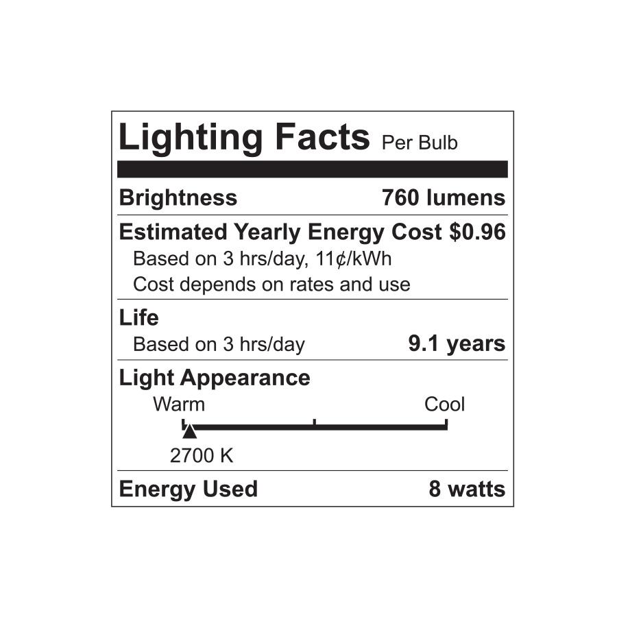 Shop GE 8-Pack 60 W Equivalent Soft White A19 LED Light Fixture ...